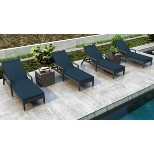 Orren Ellis Gilleland Sun Lounger Set with Cushions and Table