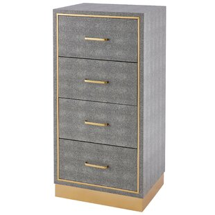 Doerr Faux Shagreen 4 Drawer Accent Chest by Mercer41