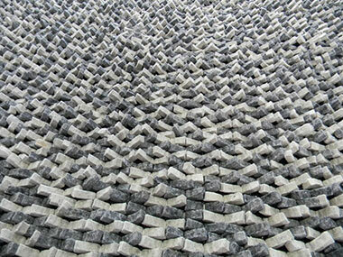 Modern Rugs Cobblestone Coal Silver Area Rug