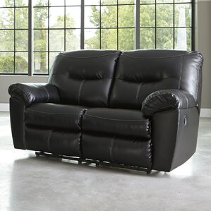 Burkes Reclining Loveseat by Red Barrel Studio