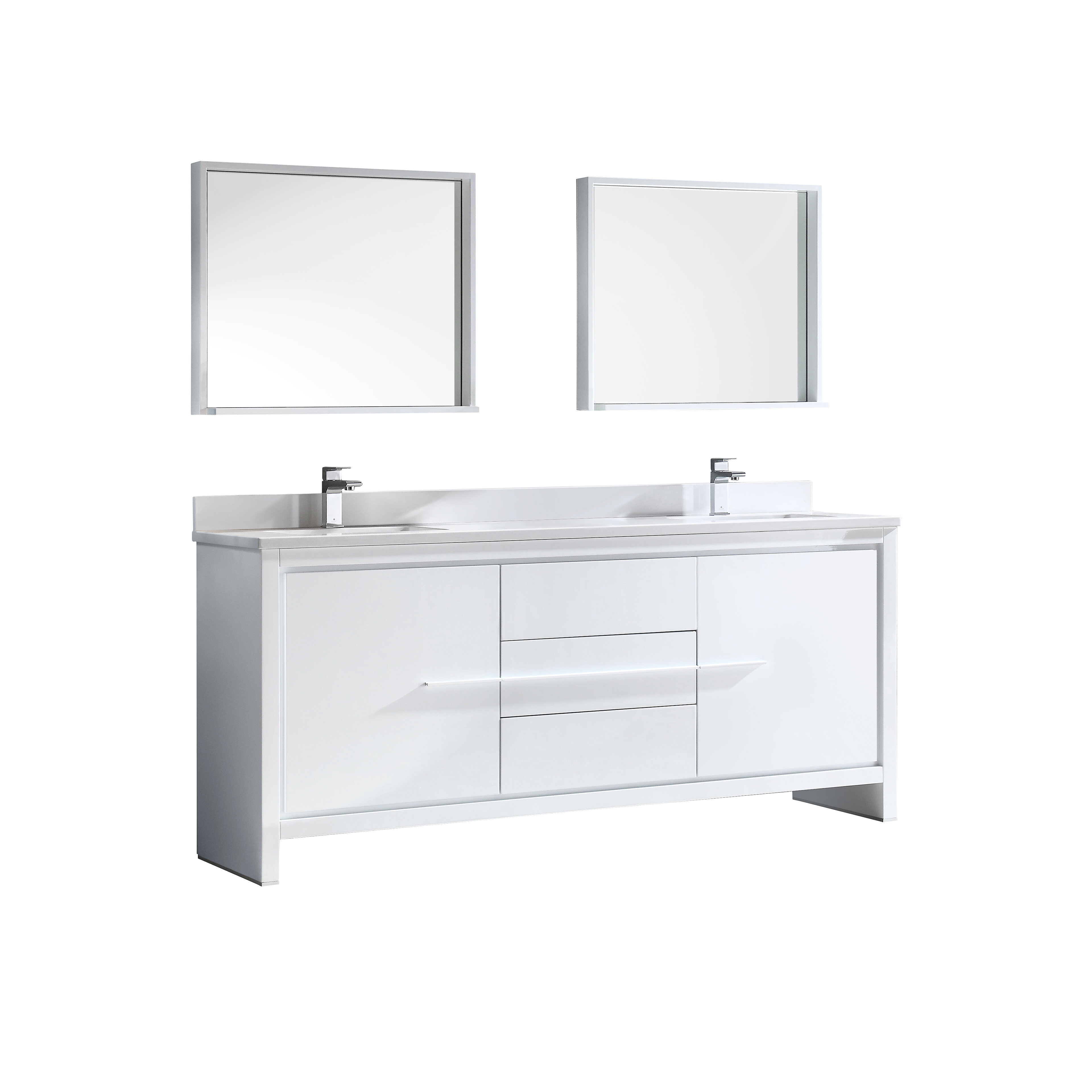 trieste allier 72 double bathroom vanity set with mirror reviews rh allmodern com