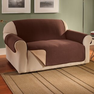 Waterproof Reversible Fleece Furniture Protector Box Cushion Sofa Slipcover by Symple Stuff