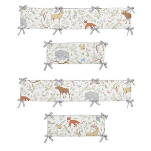 Woodland Toile Crib Bumper By Sweet Jojo Designs