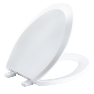 Kohler Lustra with Quick-Release Hinges Elongated Toilet Seat with Anti-Microbial Agent