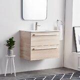 Gagan 31 Wall-Mounted Single Bathroom Vanity Set by Orren Ellis