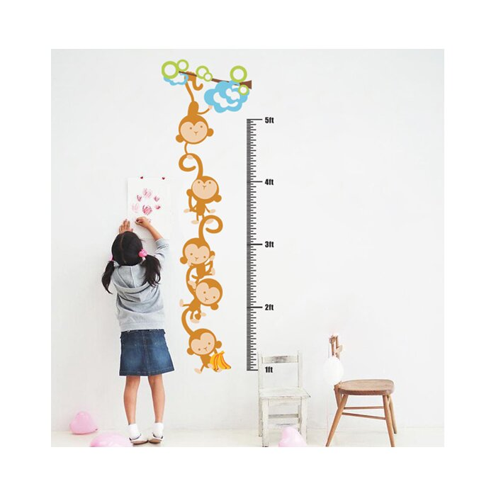 Pop Decors Monkeys Growth Chart Wall Decal Wayfair