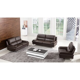 Harrison Leather 3 Piece Living Room Set by American Eagle International Trading Inc.