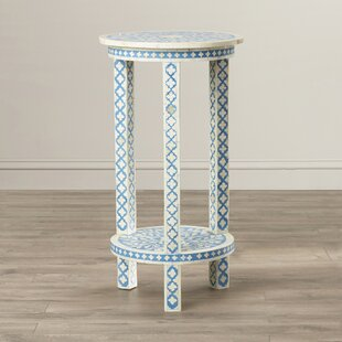 Alayna Traditional Bone Inlay End Table by Mistana