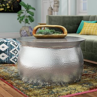 Vanesa Hammered Coffee Table by Mistana Great Reviews
