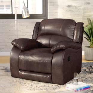Juan Leather Manual Wall Hugger Recliner Latitude Run