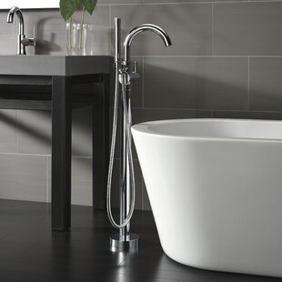 Trinsic® Single Handle Floor Mount Freestanding Tub Filler with Hand Shower By Delta
