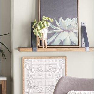 Blanco Industrial Angled Bracket Accent Shelf