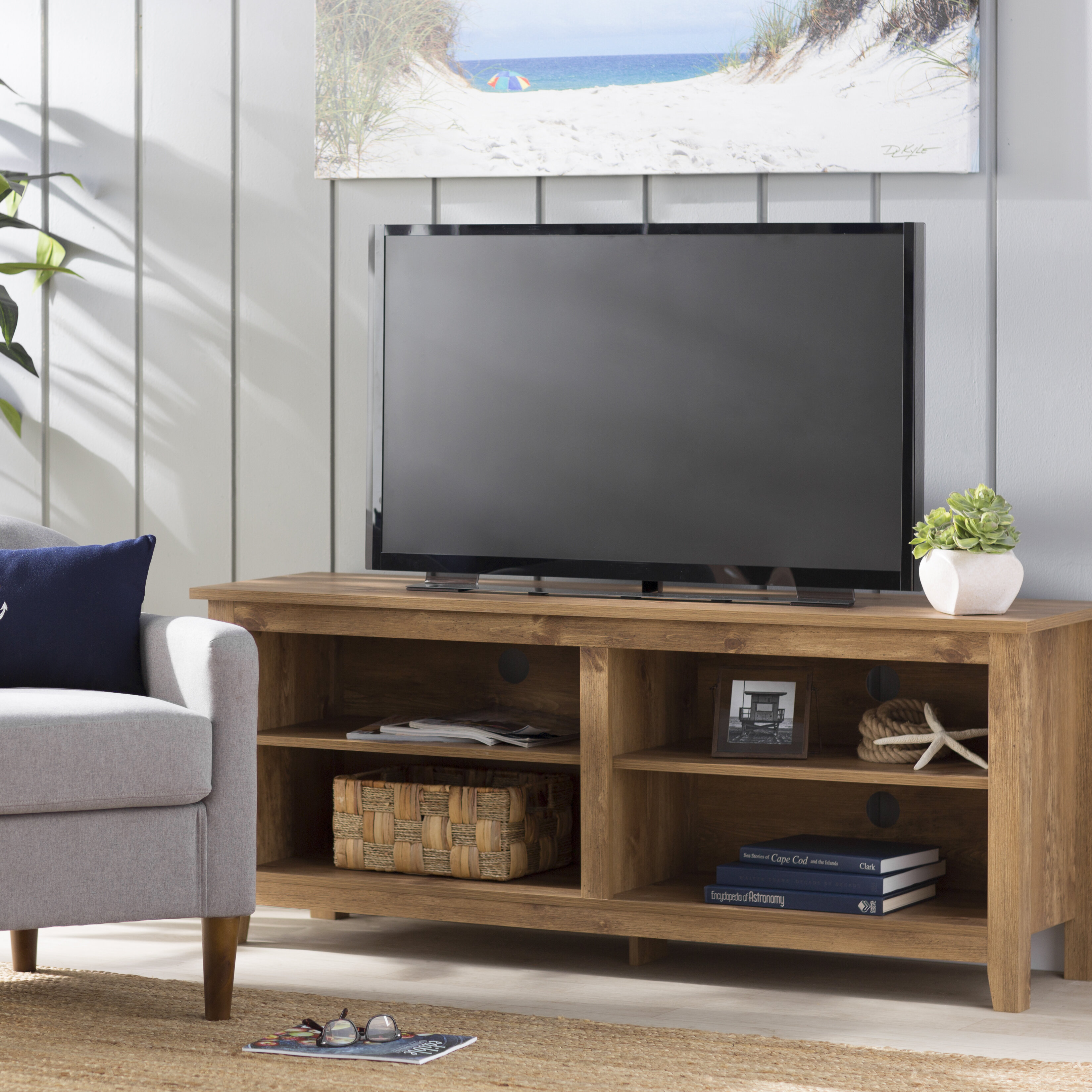 Picture of: Beachcrest Home Sunbury Tv Stand For Tvs Up To 65 Reviews