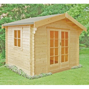 Montpelier 10 X 6 Ft. Tongue And Groove Log Cabin By Sol 72 Outdoor
