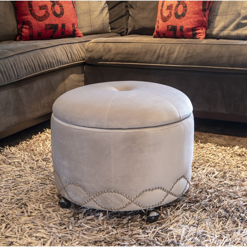 Awesome Childress Upholstered Storage Ottoman Gmtry Best Dining Table And Chair Ideas Images Gmtryco