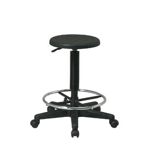 Hathcock Height Adjustable Drafting Stool with Footring