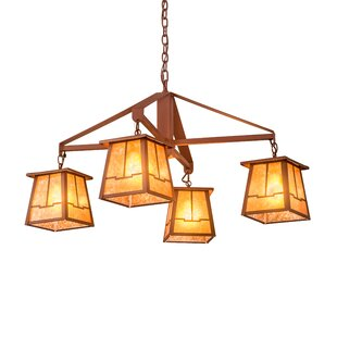 Meyda Tiffany Bungalow Valley View 4-Light Shaded Chandelier
