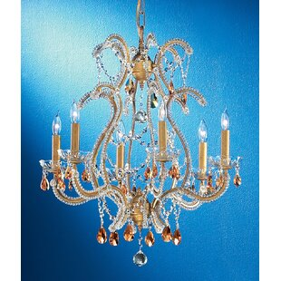 Classic Lighting Aurora 6-Light Candle Style Chandelier