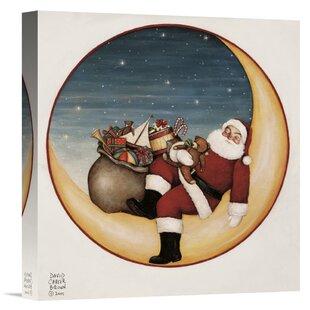 Christmas wall art paintings youll love wayfair merry lil santa print spiritdancerdesigns Gallery