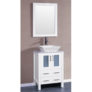 Lehigh 24 Single Bathroom Vanity Set with Mirror by Bosconi