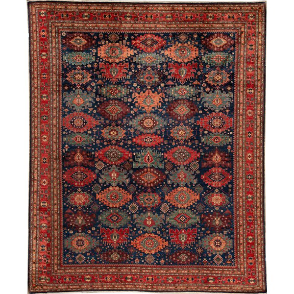 Bokara Rug Co Inc Aryana Oriental Hand Knotted 12 X 15 Wool Blue Red Area Rug Perigold