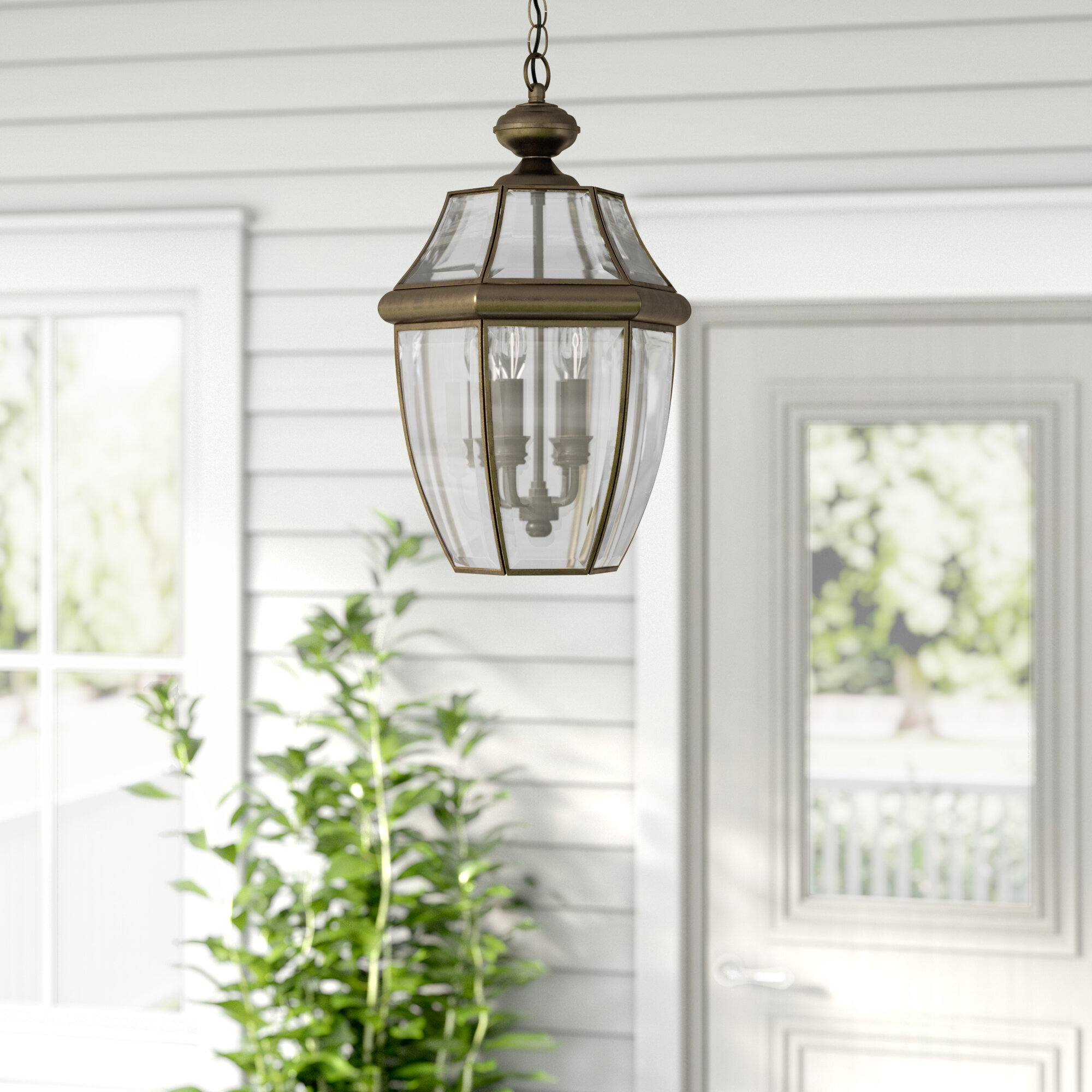 Darby Home Co Knudson 3 Bulb 20 75 H Outdoor Hanging Lantern Reviews Wayfair
