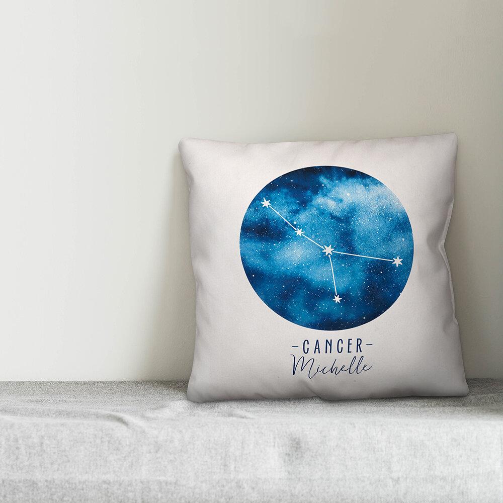 Dakota Fields Dulin Zodiac Sign Astrological Constellation Personalized Throw Pillow Wayfair Ca