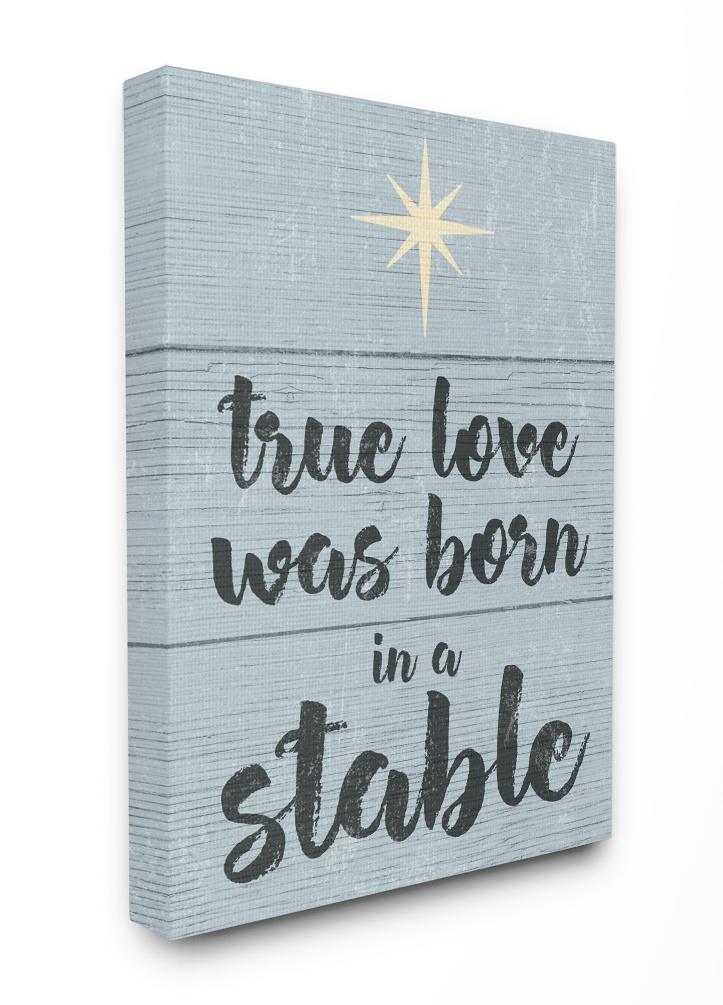 Winston Porter Christmas True Love Was Born In A Stable Typography Graphic Art Print Wayfair