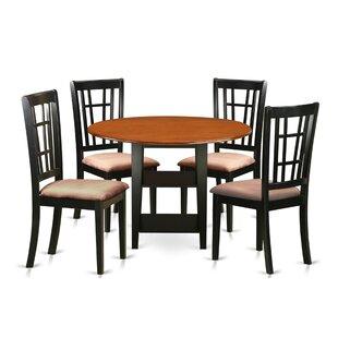 Tyshawn 5 Piece Drop Leaf Breakfast Nook Dining Set By Charlton Home