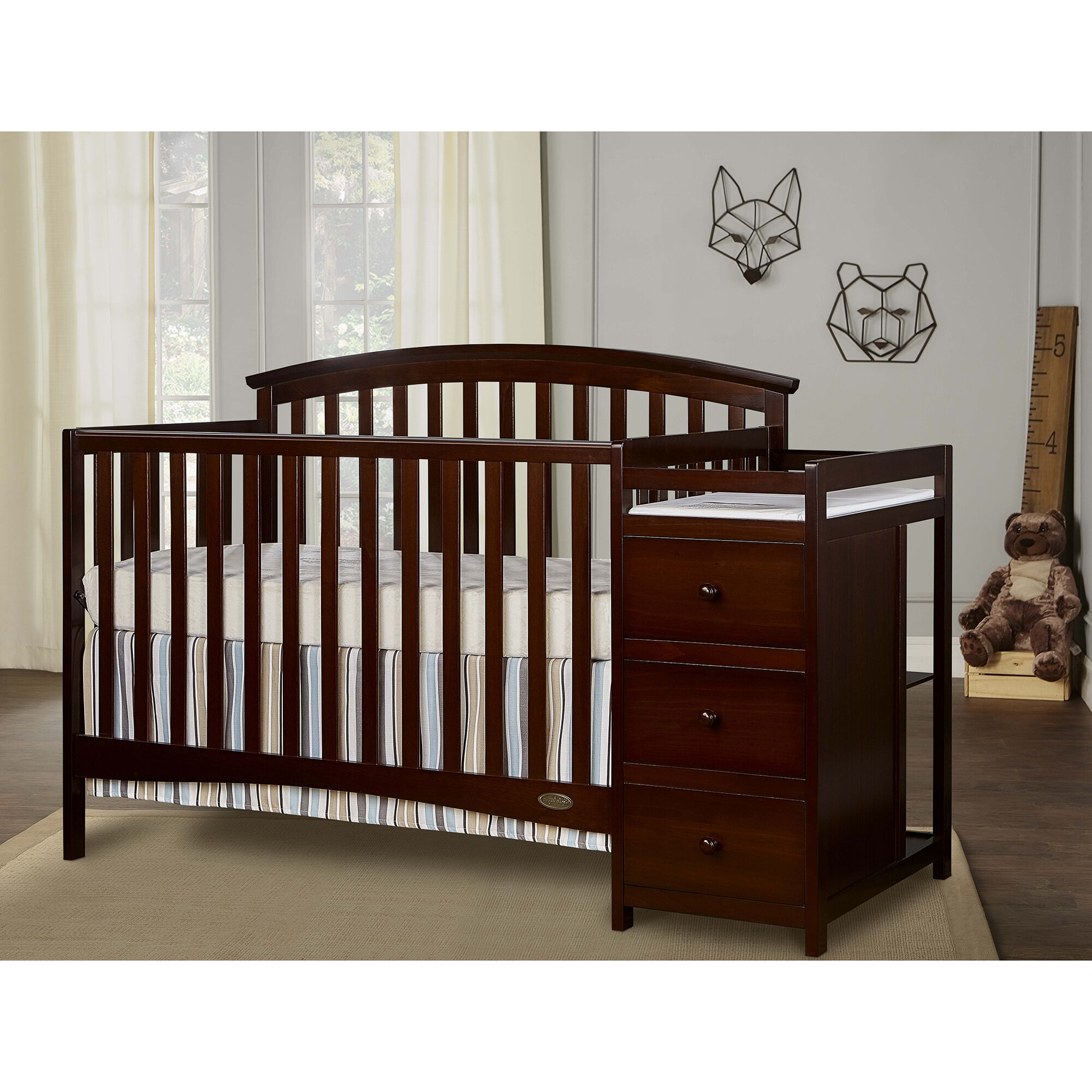 mini sorelle crib m combo in changer convertible newport and reviews wayfair