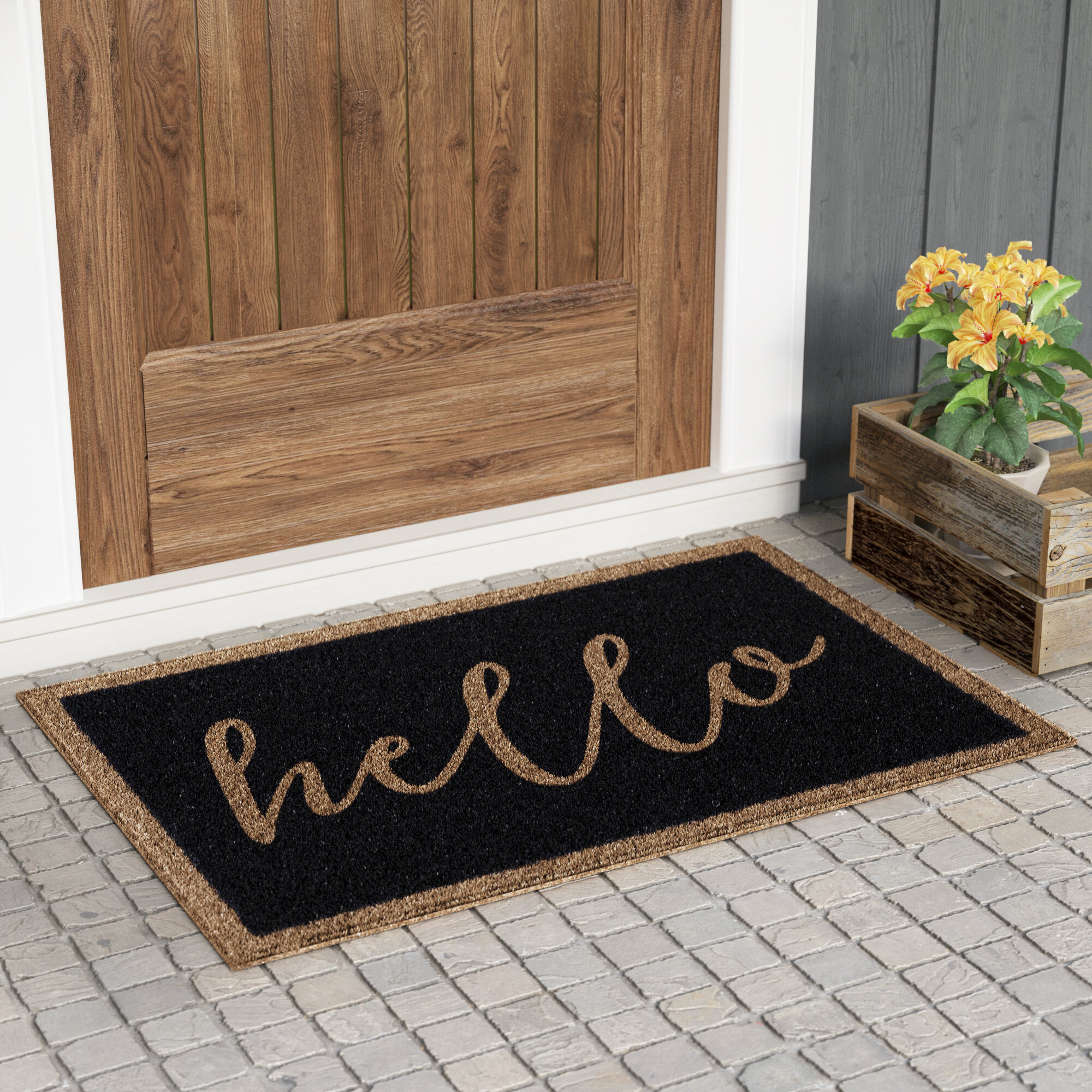 Gracie Oaks Heaney All Weather Personalized Non Slip Outdoor Door Mat Reviews Wayfair