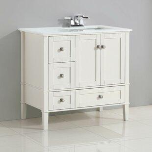 Chelsea Right Offset 37 Single Bathroom Vanity Set By Simpli Home