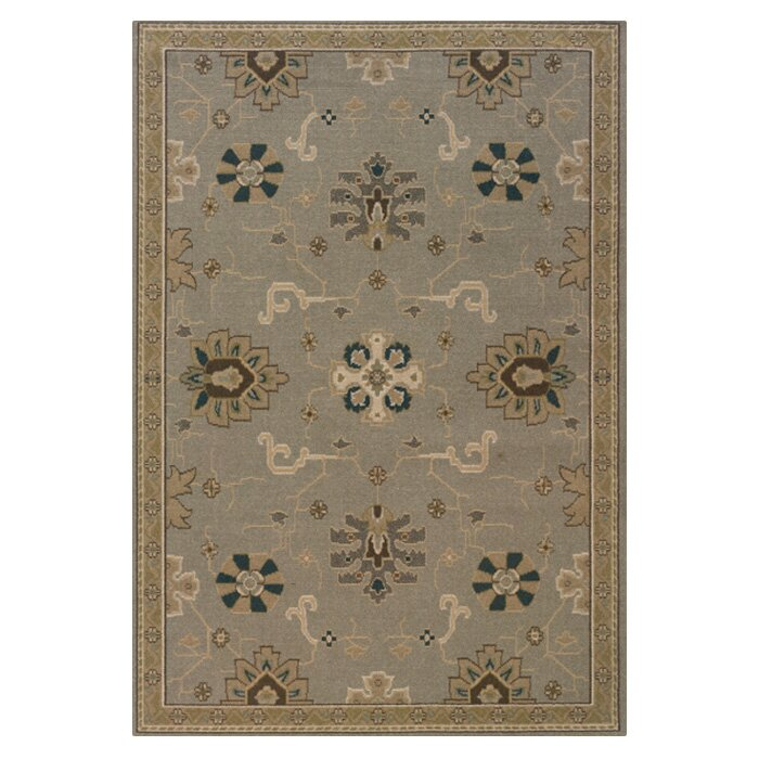 Alcott Hill Perrin Grey/Blue Area Rug, Size: Rectangle 67 x 96