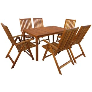 Prudence 6 Seater Dining Set By Sol 72 Outdoor
