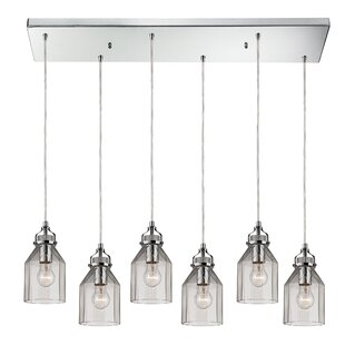 Laurel Foundry Modern Farmhouse Gammage 6-Light Kitchen Island Pendant