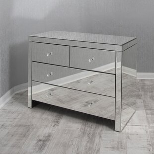 Mirrored 4 Drawer Chest Of Drawers