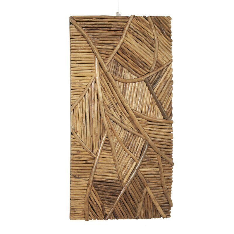 Handmade Reclaimed Teak Wood Panel