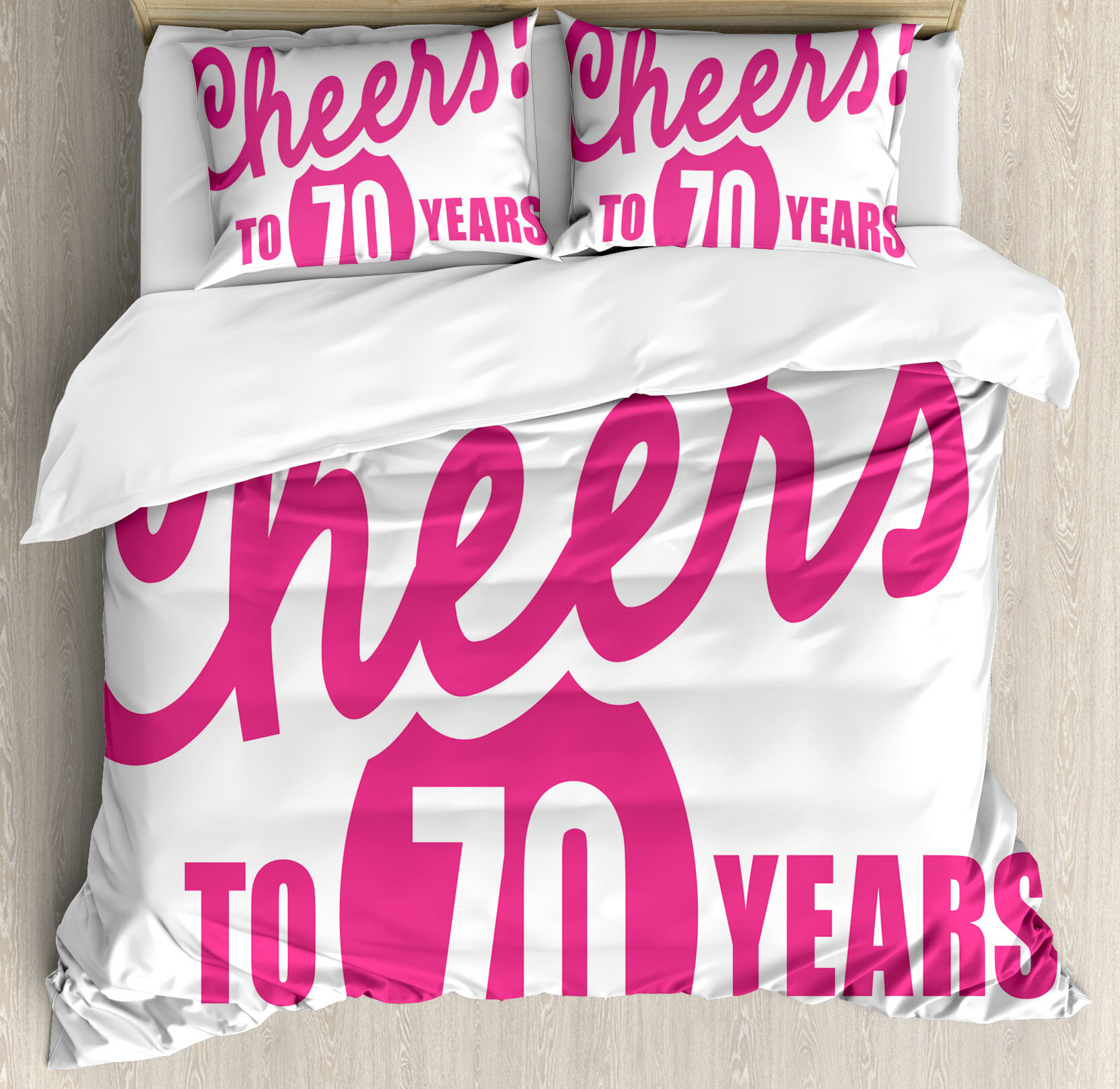 Ambesonne 70th Birthday Decorations Duvet Cover Set