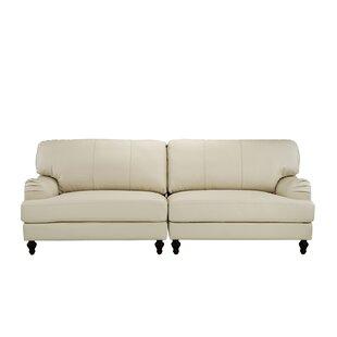House of Hampton Boell Convertible 2 Piece Leather Sofa