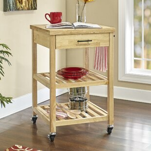 Millwood Pines Woods Kitchen Cart