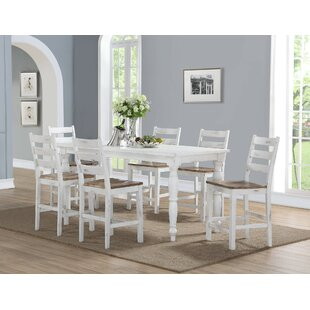 Spurgeon 7 Piece Counter Height Dining Set August Grove