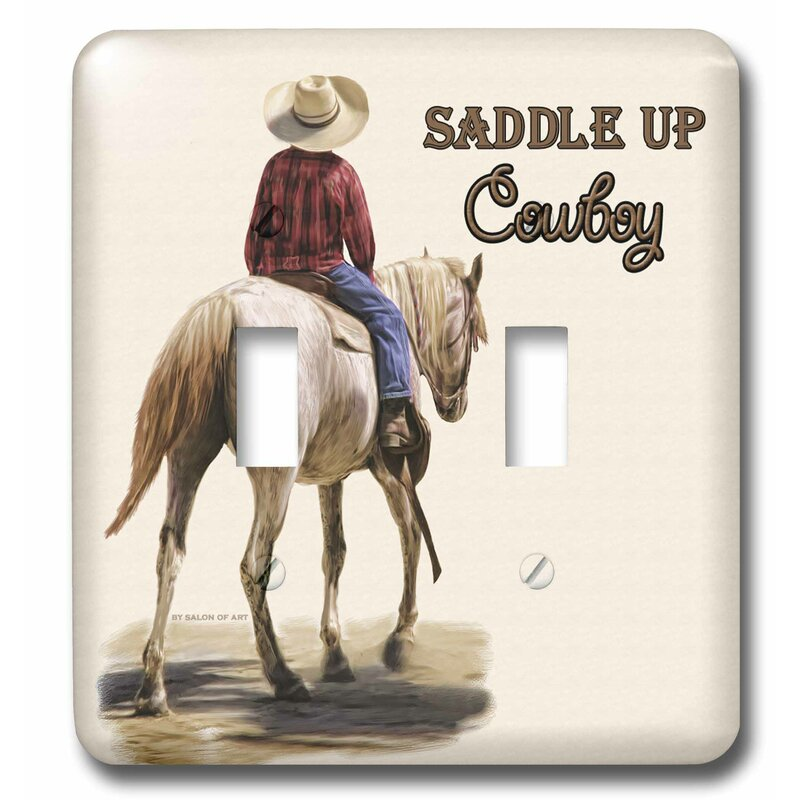 3drose Saddle Up Cowboy Western Theme Painting 2 Gang Toggle Light Switch Wall Plate Wayfair