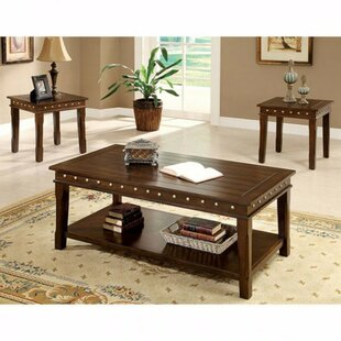 Millwood Pines Wason Solid Wood 3 Piece Coffee Table Set