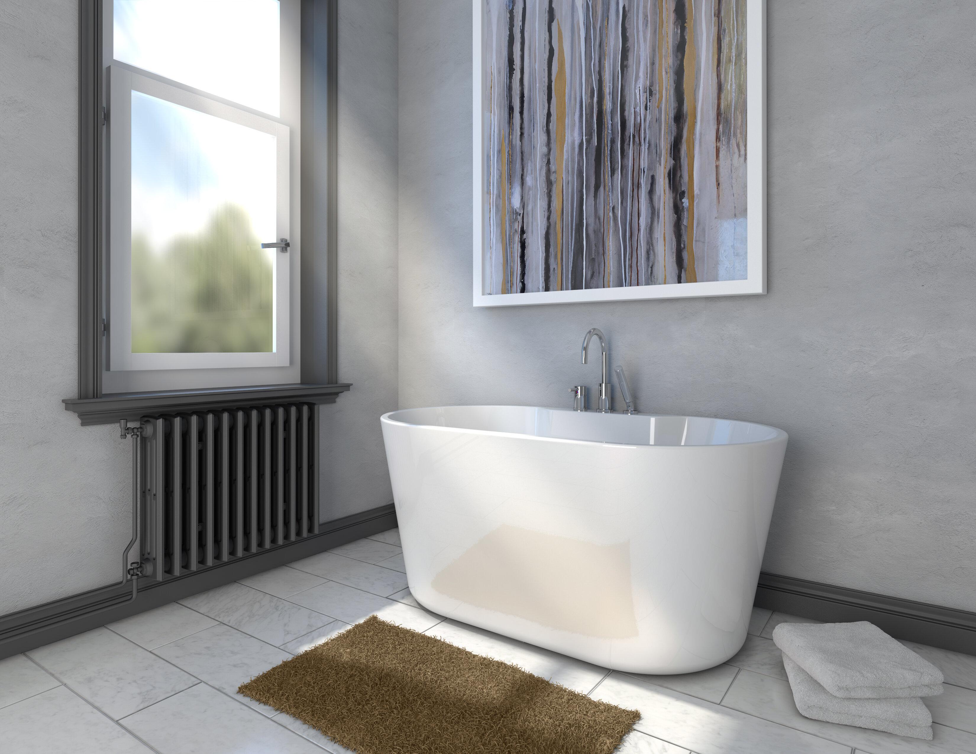56 X 31 4 Freestanding Soaking Bathtub