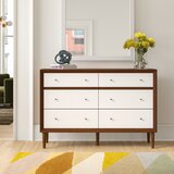 Adelia 6 Drawer Double Dresser by Foundstone™