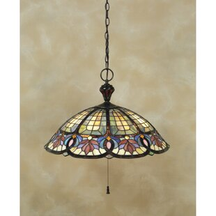 Astoria Grand Tadler 3-Light Tiffany Inverted Pendant