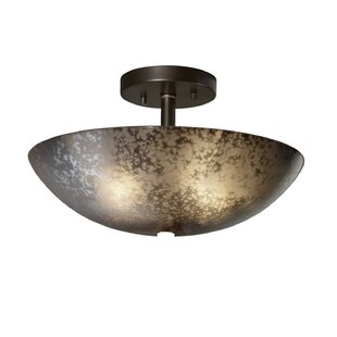 Luzerne 2-Light Semi Flush Mount by Brayden Studio