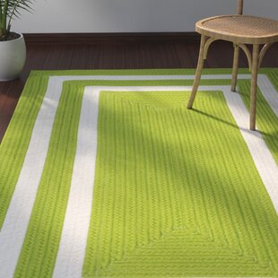 Marti Hand-Woven Outdoor Green Area Rug By Bay Isle Home