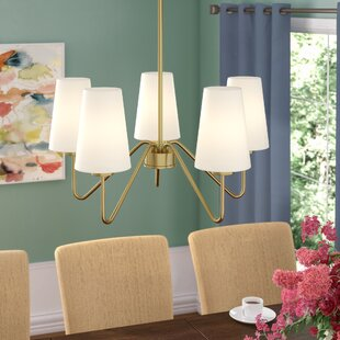 Mercury Row Higginson 5-Light Shaded Chandelier