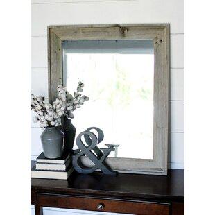 trosper rustic bathroomvanity mirror - Rustic Bathroom Mirrors